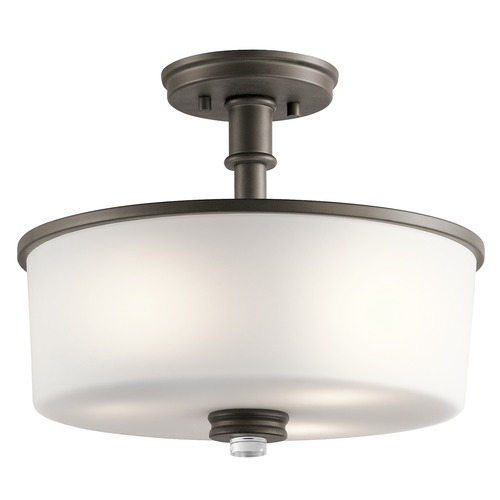 Kichler Lighting Kichler Lighting Joelson Olde Bronze Semi-Flushmount Light 43926OZ