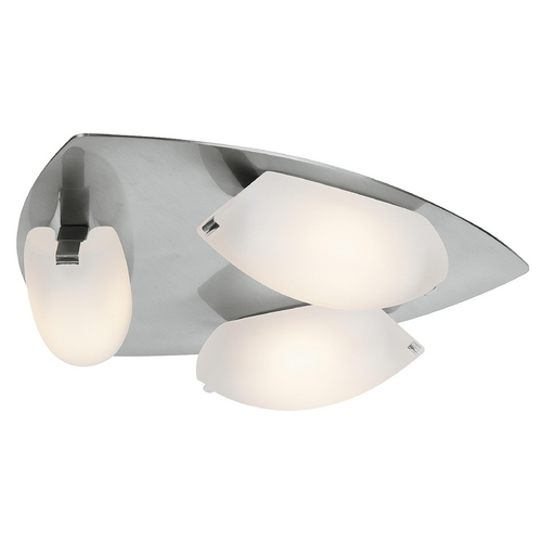 Access Lighting Wall Lamp with White Glass in Matte Chrome Finish 63953-MC/FST