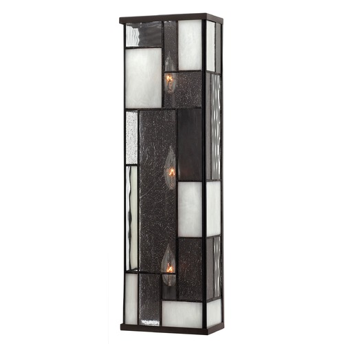 Hinkley Lighting Sconce Wall Light with Copper Glass in Buckeye Bronze Finish 4572KZ