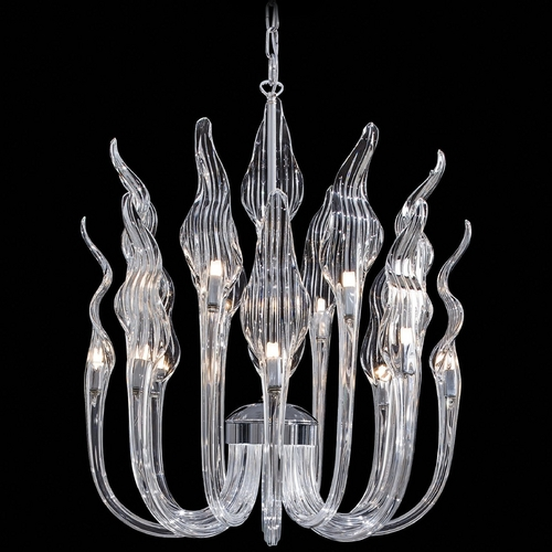 Metropolitan Lighting Chandelier with Clear Glass in Chrome Finish N9219