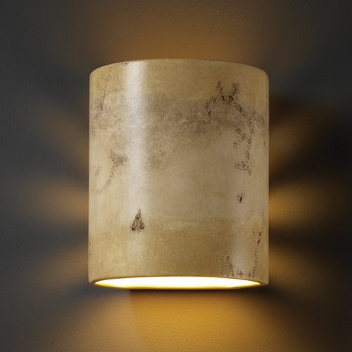 Justice Design Group Outdoor Wall Light in Greco Travertine Finish CER-9010W-TRAG