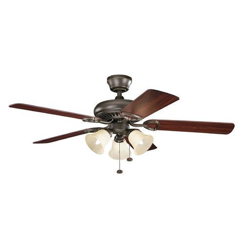 Kichler Lighting Kichler Lighting Sutter Place Premier Olde Bronze Ceiling Fan with Light 339400OZ