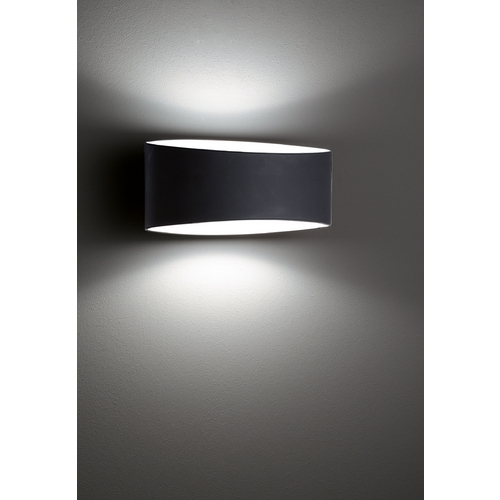 Holtkoetter Lighting Holtkoetter Modern Sconce Wall Light with Black Glass in Black Finish 8502 BK