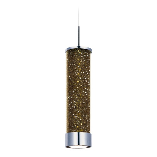 ET2 Lighting Polished Chrome LED Mini-Pendant Light with Cylindrical Shade E94350-136PC