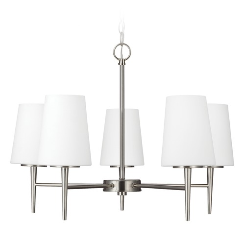 Sea Gull Lighting Sea Gull Lighting Driscoll Brushed Nickel Chandelier 3140405BLE-962