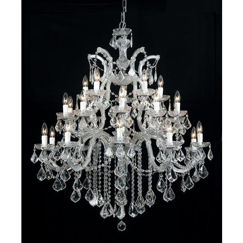 Crystorama Lighting Crystorama Lighting Maria Theresa Polished Chrome Crystal Chandelier 4470-CH-CL-MWP