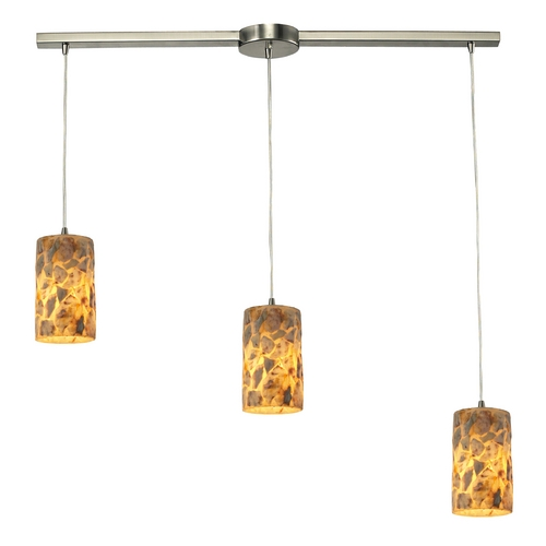 Elk Lighting Multi-Light Pendant Light with Beige / Cream Glass and 3-Lights 10339/3L