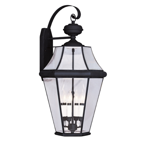 Livex Lighting Livex Lighting Georgetown Black Outdoor Wall Light 2366-04
