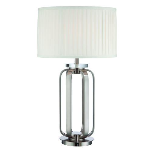 Lite Source Lighting Lite Source Jairus Polished Steel Table Lamp with Drum Shade LSF-22295