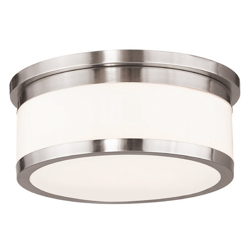 Livex Lighting Livex Lighting Stafford Brushed Nickel Flushmount Light 65503-91