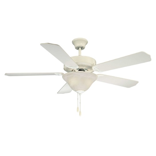 Savoy House Savoy House White Ceiling Fan with Light 52-ECM-5RV-WH