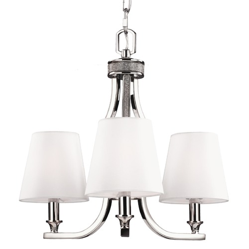 Feiss Lighting Feiss Lighting Pave Polished Nickel Mini-Chandelier F2968/3PN