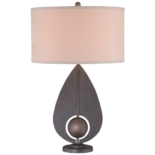 George Kovacs Lighting George Kovacs Iron with Antique Bronze Accents Table Lamp with Cylindrical Shade P1616-0