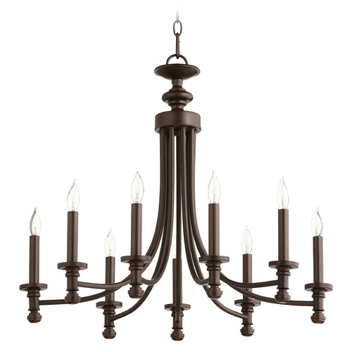 Quorum Lighting Quorum Lighting Rossington Oiled Bronze Chandelier 6022-9-86