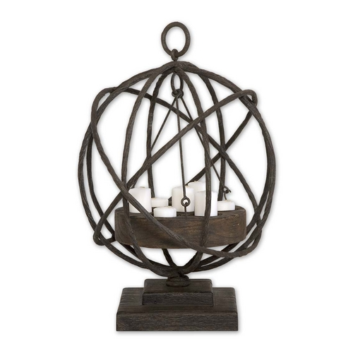 Uttermost Lighting Candle Holder in Weathered Chestnut Finish 17059