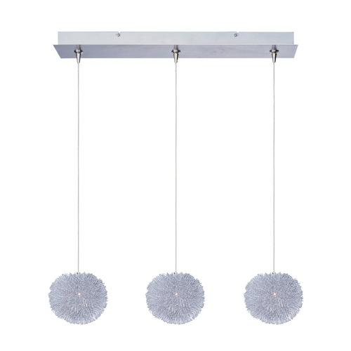 ET2 Lighting Modern Low Voltage Multi-Light Pendant Light 3-Lights E94820-AL