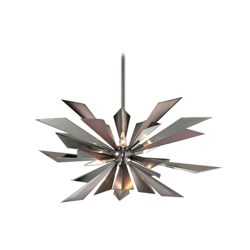Crystorama Lighting Pendant Light in Midnight Chrome Finish 1529-MC