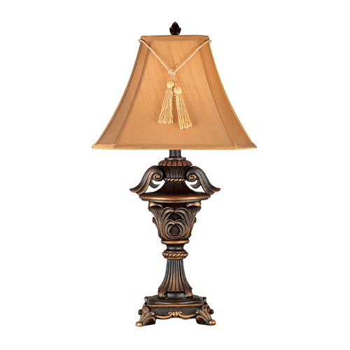 Kenroy Home Lighting Table Lamp with Brown Shade in Metallic Bronze Finish 36004
