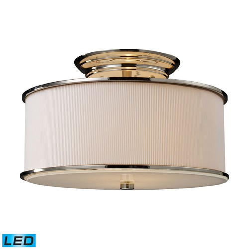 Elk Lighting Elk Lighting Lureau Polished Nickel LED Semi-Flushmount Light 20061/2-LED