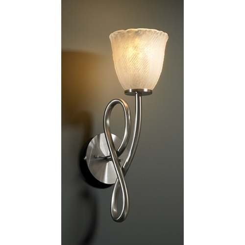 Justice Design Group Justice Design Group Veneto Luce Collection Sconce GLA-8911-56-WHTW-NCKL