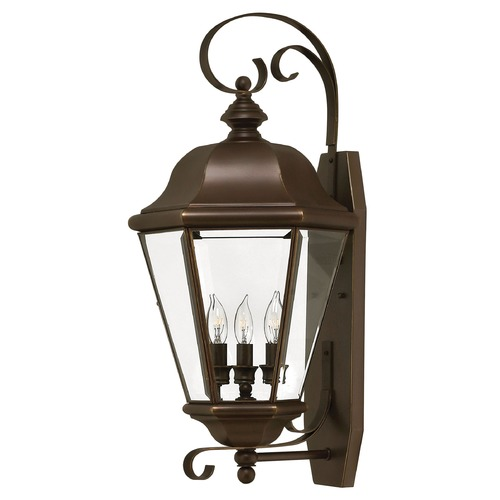 Hinkley Lighting Outdoor Wall Light with Clear Glass in Copper Bronze Finish 2428CB