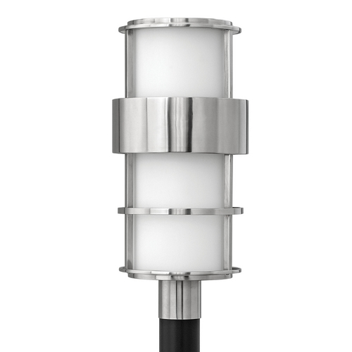 Hinkley Lighting Post Light with White Glass in Stainless Steel Finish 1901SS-GU24