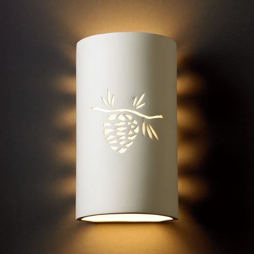 Justice Design Group Outdoor Wall Light in Bisque Finish CER-9015W-BIS