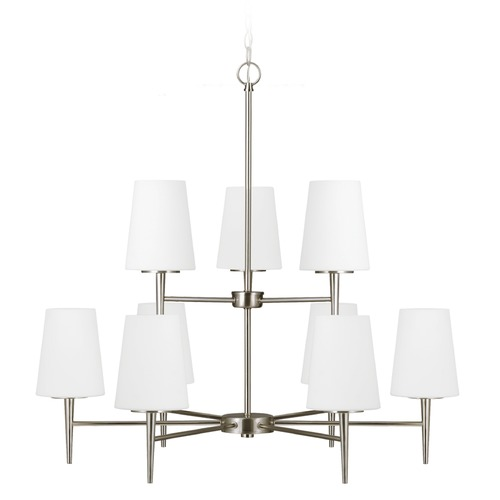 Sea Gull Lighting Sea Gull Lighting Driscoll Brushed Nickel Chandelier 3140409BLE-962