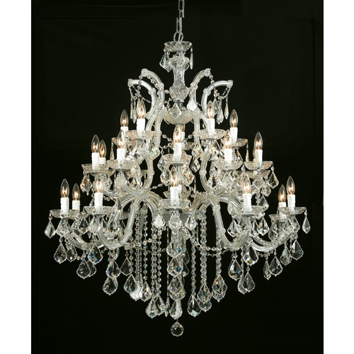 Crystorama Lighting Crystorama Lighting Maria Theresa Gold Crystal Chandelier 4470-GD-CL-MWP