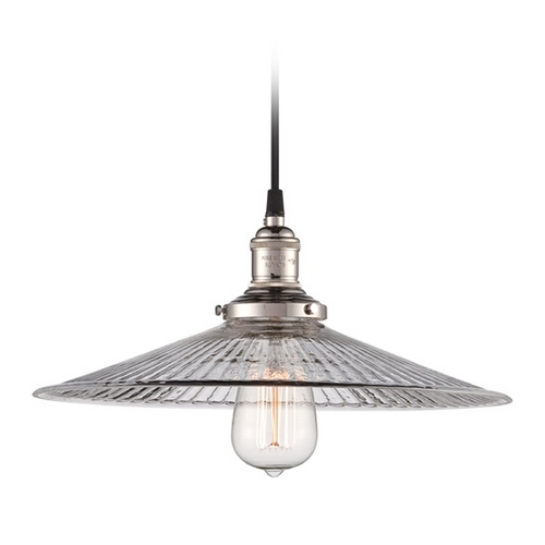 Nuvo Lighting Pendant Light with Clear Glass in Polished Nickel Finish 60/5416