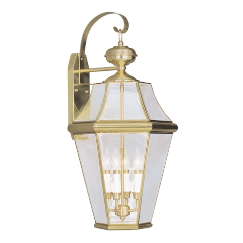 Livex Lighting Livex Lighting Georgetown Polished Brass Outdoor Wall Light 2366-02