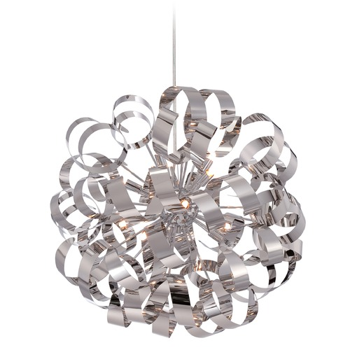Quoizel Lighting Quoizel Ribbons Polished Chrome Pendant Light RBN2823C