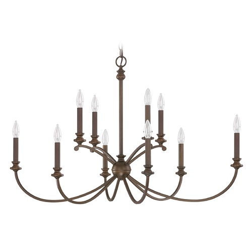 Capital Lighting Capital Lighting Alexander Burnished Bronze Chandelier 4748BB-000