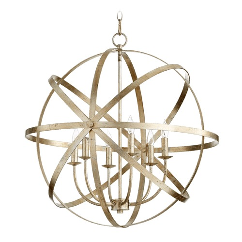 Quorum Lighting Quorum Lighting Celeste Aged Silver Leaf Pendant Light 6009-6-60