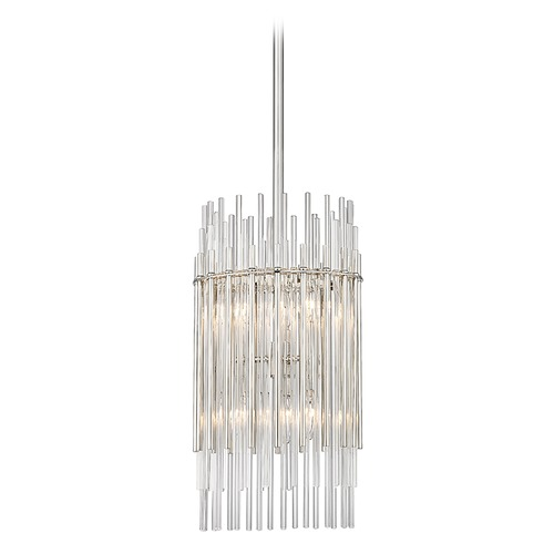 Hudson Valley Lighting Hudson Valley Lighting Wallis Polished Nickel Pendant Light with Cylindrical Shade 6310-PN