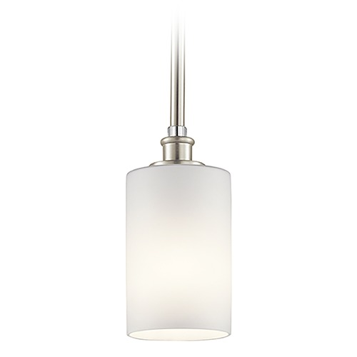 Kichler Lighting Kichler Lighting Joelson Brushed Nickel Mini-Pendant Light with Cylindrical Shade 43927NI