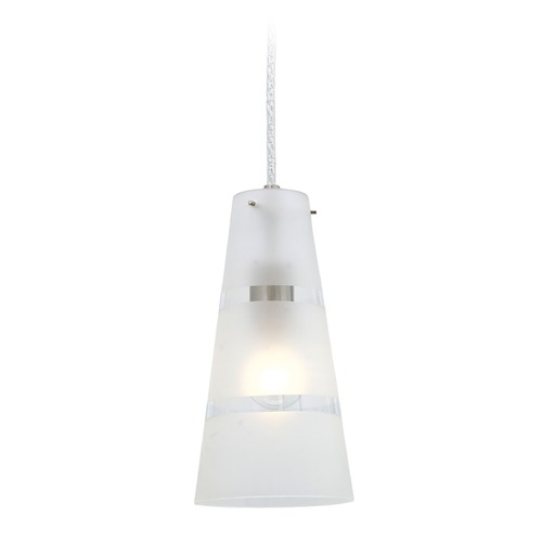 Eglo Lighting Eglo Noria Matte Nickel Mini-Pendant Light with Conical Shade 87336A