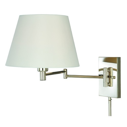 Vaxcel Lighting Chapeau Polished Nickel Swing Arm Lamp by Vaxcel Lighting W0200