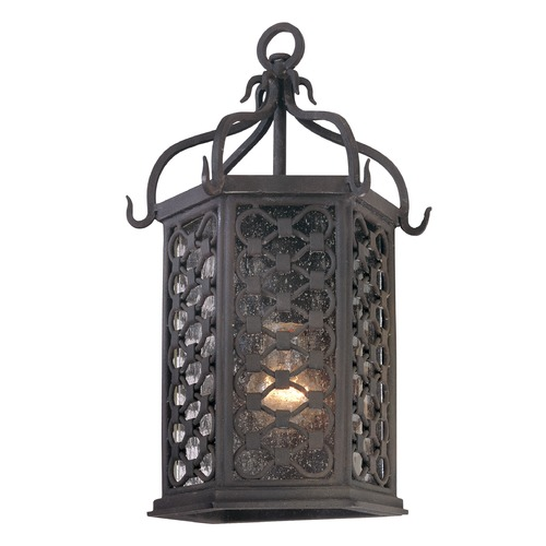 Troy Lighting Seeded Glass Outdoor Wall Light Iron Troy Lighting B2371OI