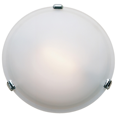 Access Lighting Modern Flushmount Light with White Glass in Chrome Finish 50041-CH/FST