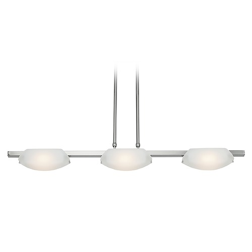 Access Lighting Access Lighting Nido Matte Chrome Island Light with Oval Shade 63957-MC/FST