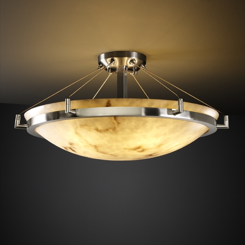 Justice Design Group Justice Design Group Lumenaria Collection Semi-Flushmount Light FAL-9682-35-NCKL