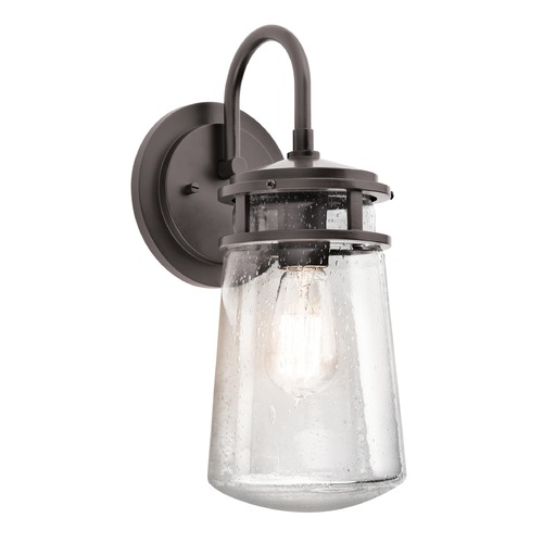 Kichler Lighting Kichler Outdoor Wall Light with Clear Glass in Bronze Finish 49445AZ