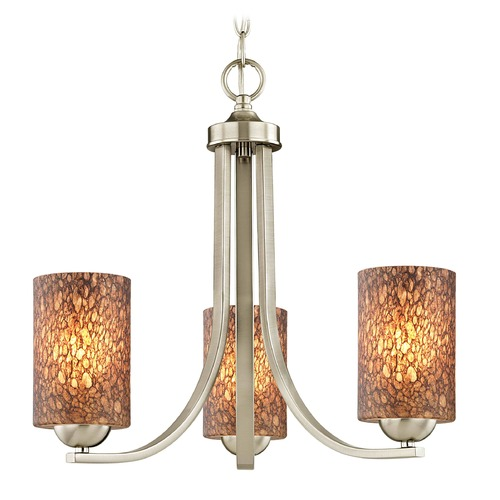 Design Classics Lighting Design Classics Dalton Fuse Satin Nickel Mini-Chandelier 5843-09 GL1016C