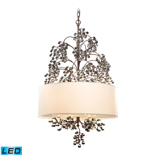 Elk Lighting Elk Lighting Winterberry Antique Darkwood LED Pendant Light with Drum Shade 20059/4-LED