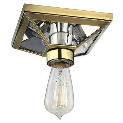 Hudson Valley Lighting Thurston 1 Light Flushmount Light - Aged Brass 5080-AGB