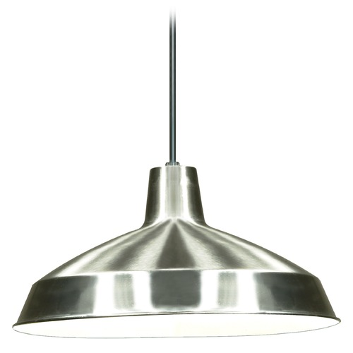 Nuvo Lighting Barn Light Pendant Brushed Nickel by Nuvo SF76/661
