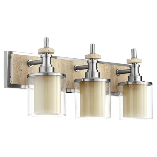 Quorum Lighting Quorum Lighting Concord Satin Nickel Bathroom Light 5064-3-65