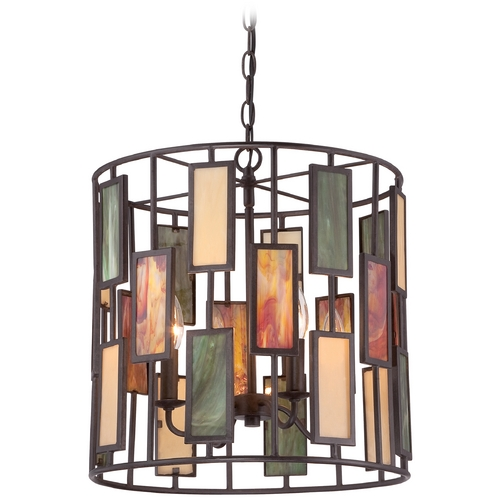 Quoizel Lighting Quoizel Tiffany Imperial Bronze Pendant Light TF1783CIB