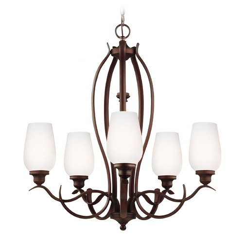 Feiss Lighting Feiss Lighting Standish Oil Rubbed Bronze with Highlights Chandelier F3002/5ORBH